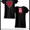 Broken Heart Ladies Shirt Original Artwork from Chris Isaak! Special Fall Sale! Originally $35
